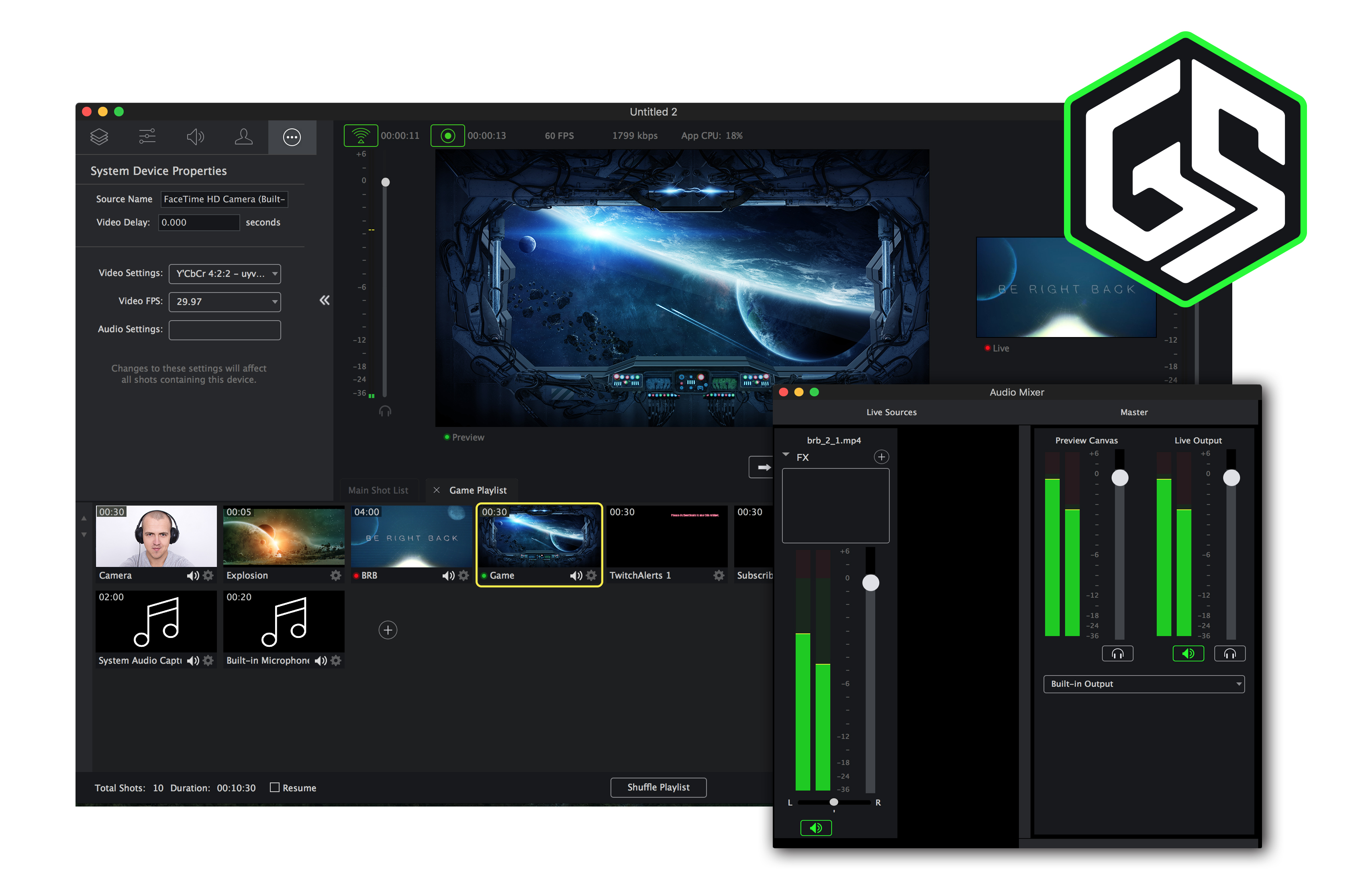 industry�s most powerful game streaming software now