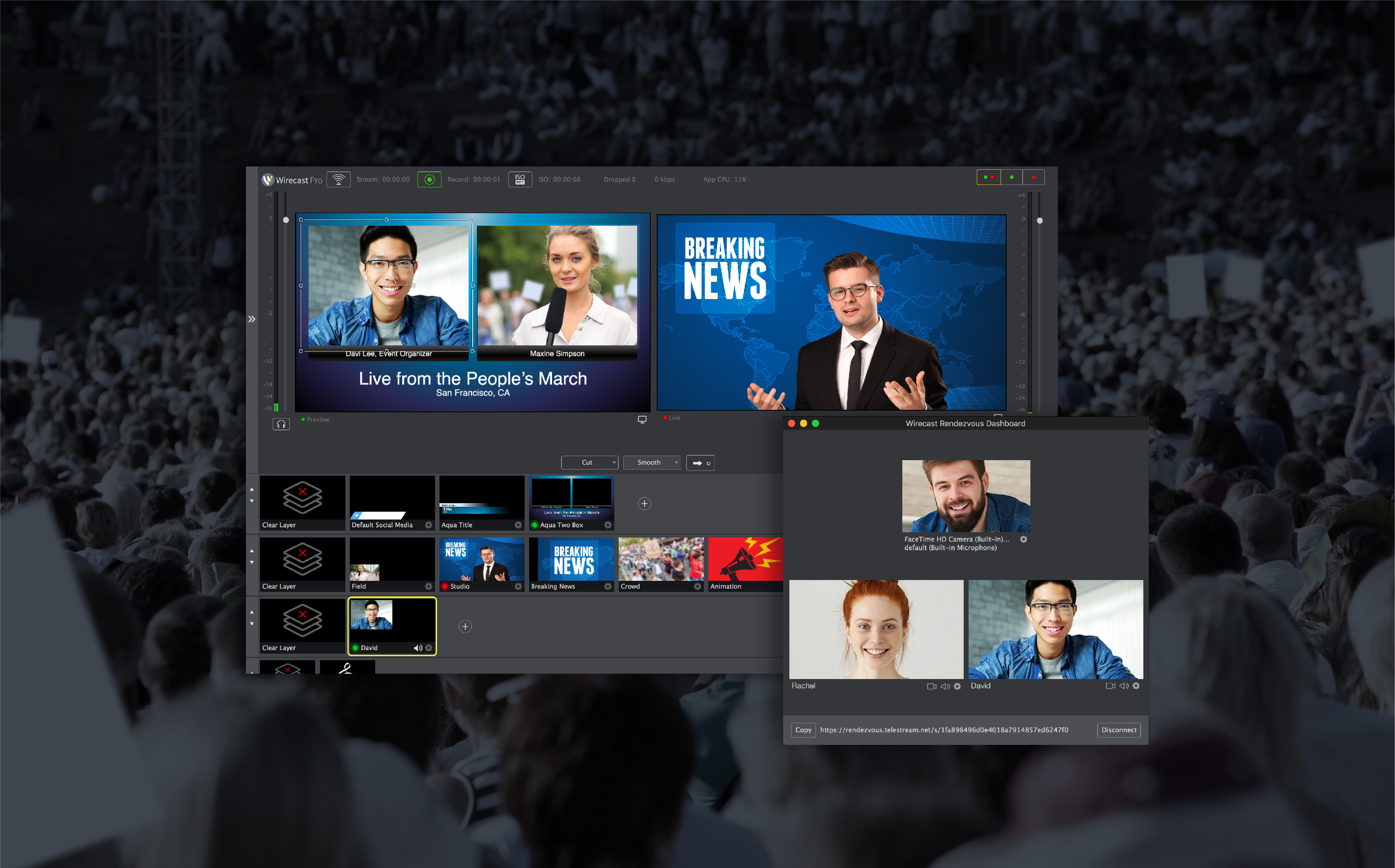Telestream Announces Wirecast Version 8 with New Rendezvous