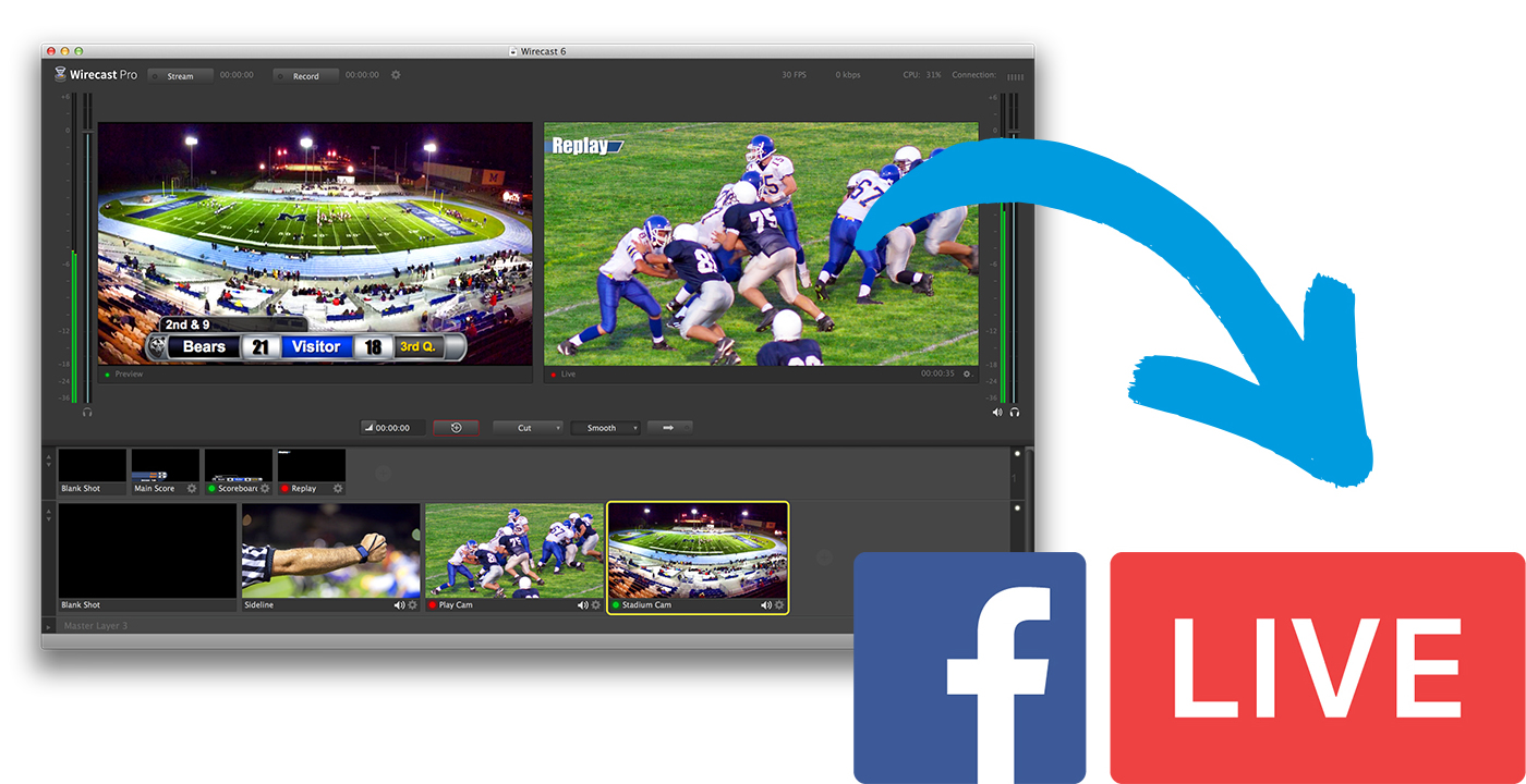 Wirecast Now Enables Professional Quality Live Video Streaming to