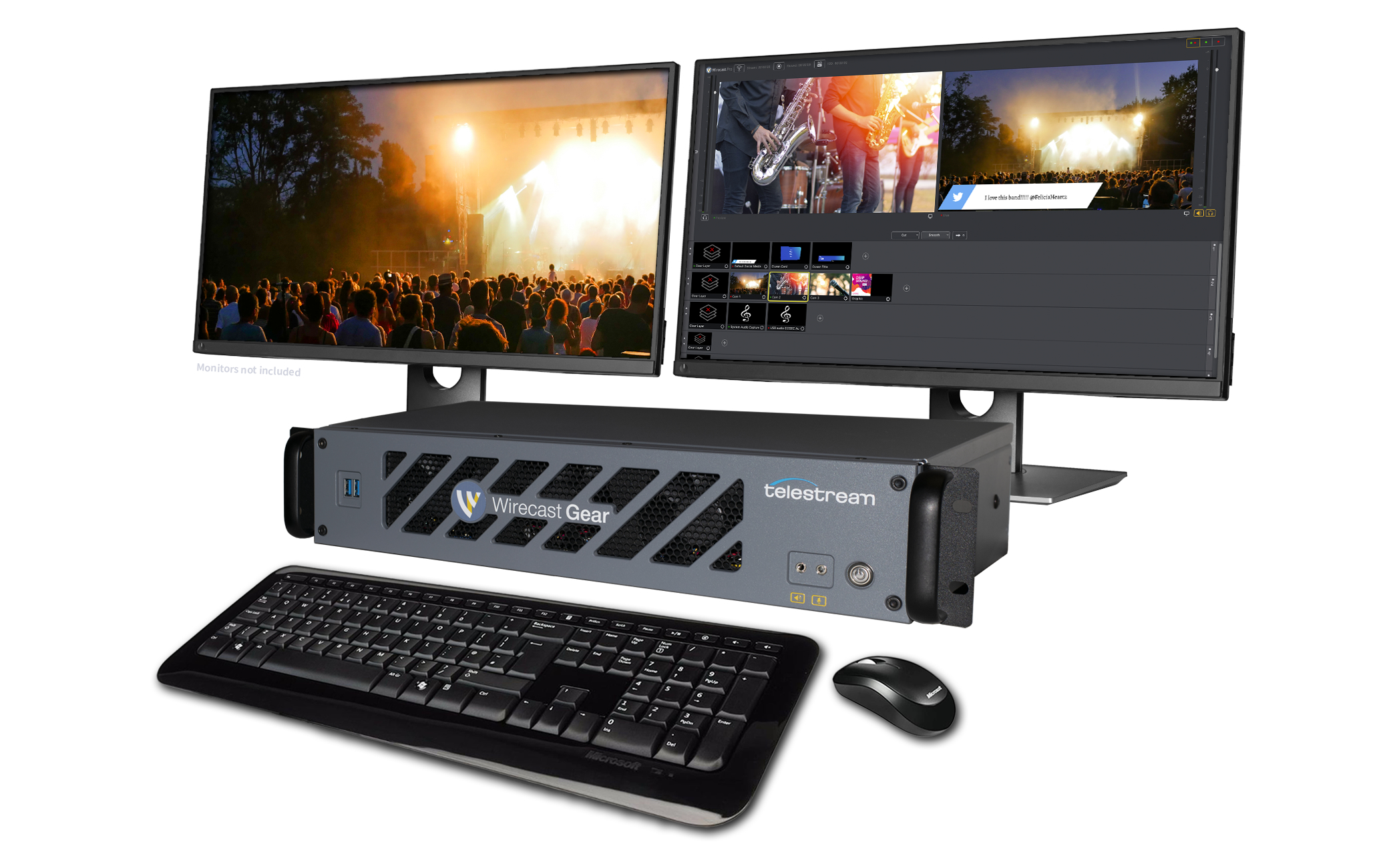Wirecast Gear all-in-one live video streaming production system