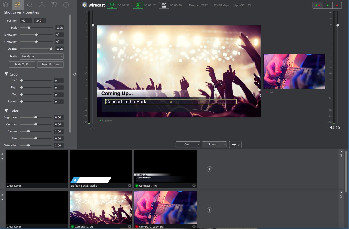 Wirecast screenshot