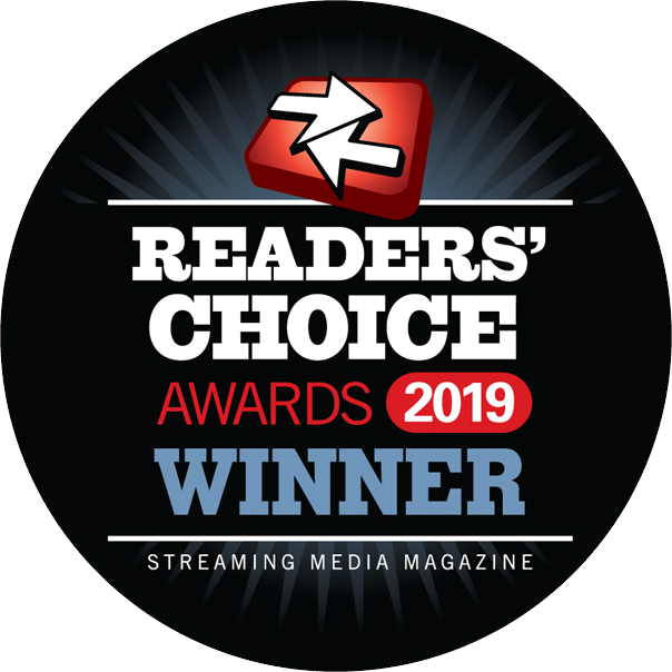 2019 Streaming Media Readers' Choice Award Winner