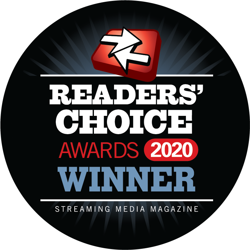 2020 Streaming Media Readers' Choice Award Winner