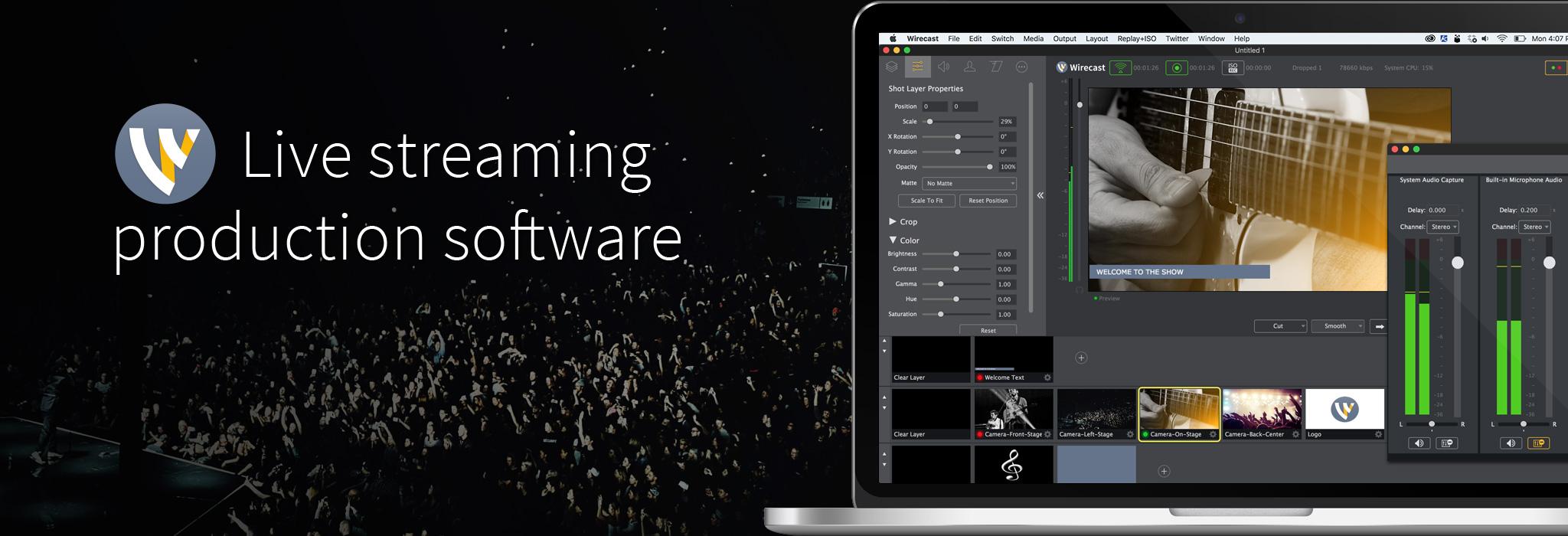 Wirecast Pro for Mac 8.1.0 破解版 – 专业摄像直播视频工具-爱情守望者