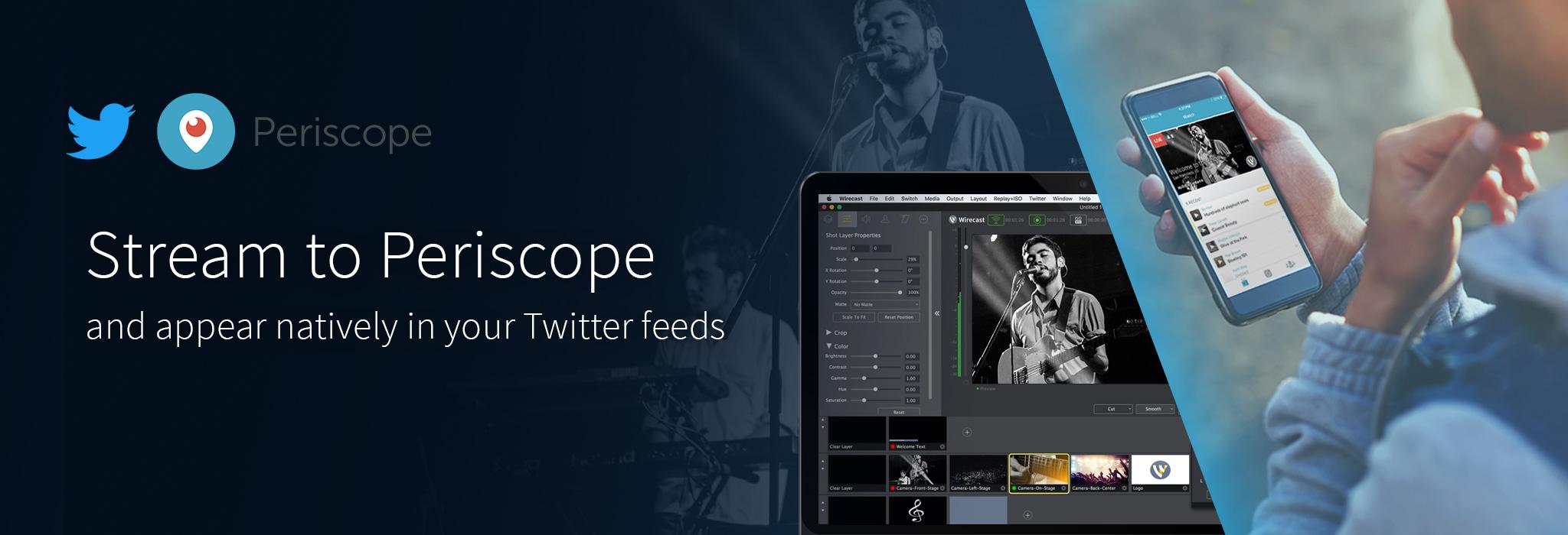 wirecast twitter periscope